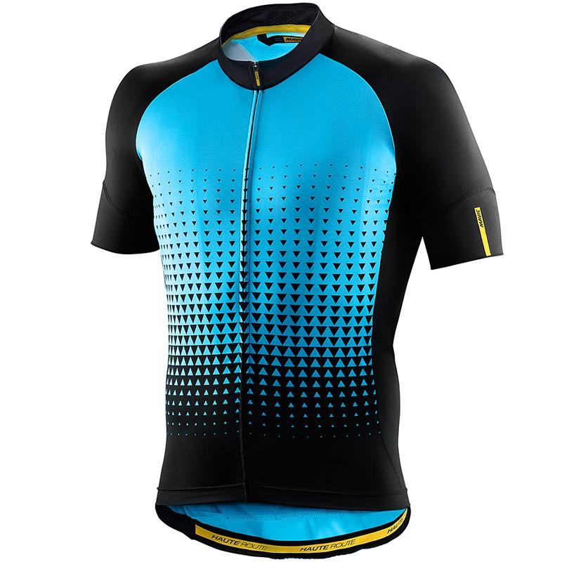 Blue//Black Mavic Men/'s Haute Route Short Sleeve Cycling Jersey Size Medium